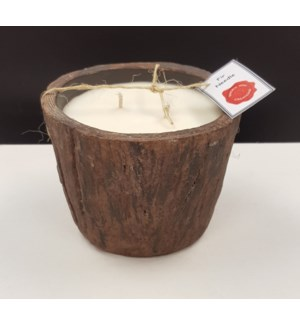 Cement Tree Bark Candle