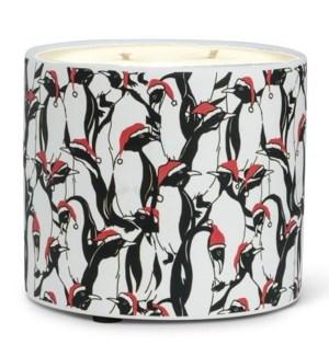 Penguins Candle Pot