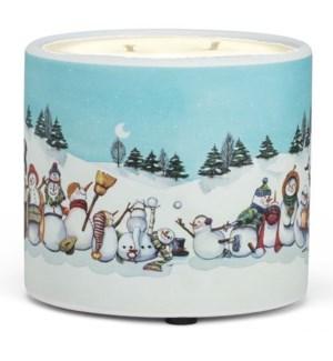 Snowman Candle Pot