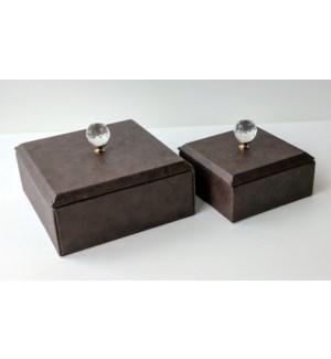 Blowout Brown Jewel Box 2pc Set