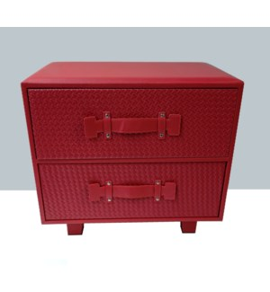 BLOWOUT Synthia Red 2 Drawer Chest