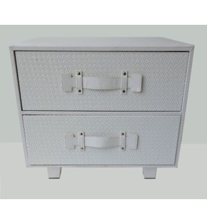 BLOWOUT Synthia White 2 Drawer Chest