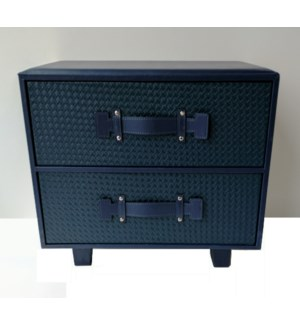 BLOWOUT Synthia Navy 2 Drawer Chest