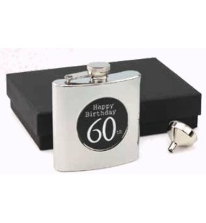 Happy 60th Birthday Flask & Funnel Set