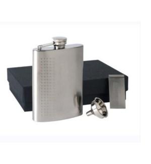 Flask, Funnel, & Money Clip 3-pc Set