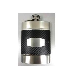 Black Carbon Fiber Flask & Funnel Set