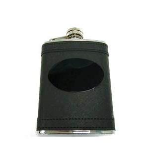 Black Flask w. Black Eng. Plate