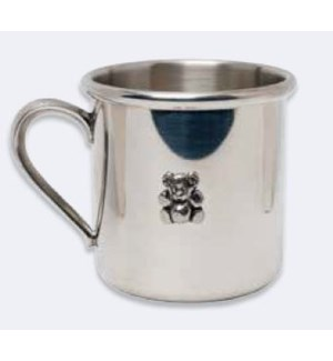 Pewter Straight Baby Cup with Bear