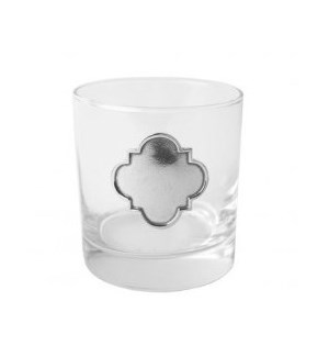 Pewter Casablanca Old Fashioned Glasses, Set of 4
