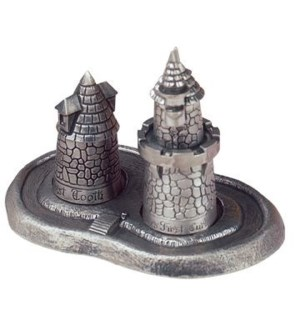 Pewter First Tooth & Curl Castle Set