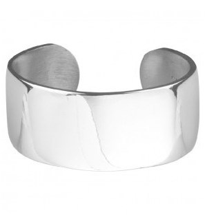 "Pewter Plain 1"" Bracelet"