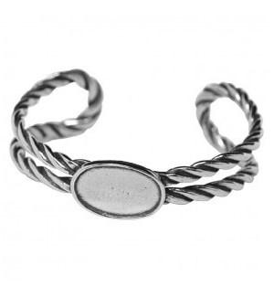 Pewter Masthead Rope Eng. Bracelet