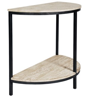 Metal and RL Demi Lune table
