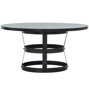 """Basket Dining Table (54""""), Alder with Steel Base"""