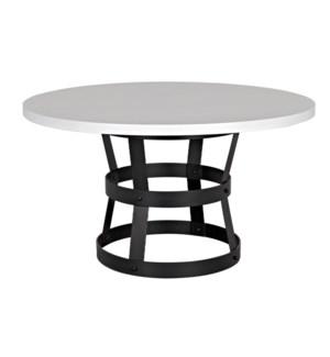 "Basket Dining Table (54""), Oak with Steel Base"