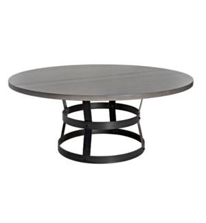 "Basket Dining Table (72""), Oak with Steel Base"