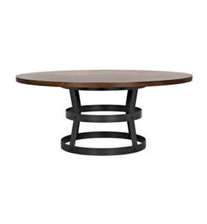 """Basket Dining Table (72""""), Walnut Top with Steel Base"""