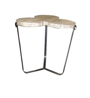 Metal side table w/ RL top