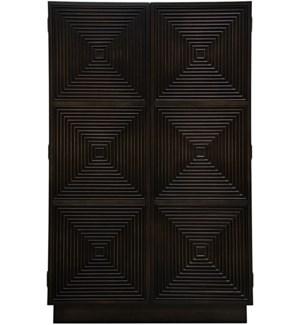 Olis Armoire, 2 adj. shelves/1 fixed shelf & 6 drawers