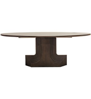 Walnut Statice Oval Dining Table