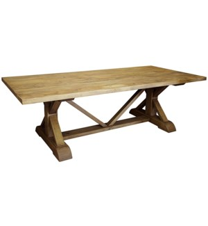 Reclaimed Lumber X-Dining Table