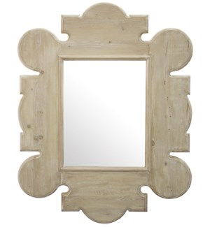 Reclaimed Lumber Gothic Mirror, Wall