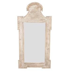 Reclaimed Lumber Mirror, bevelled glass