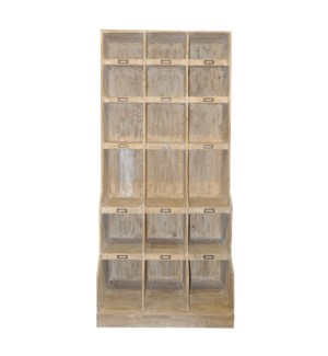 Reclaimed Lumber wine cabinet