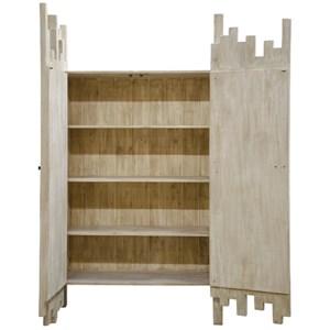 Amaranthus Cabinet, 3 adj. shelves