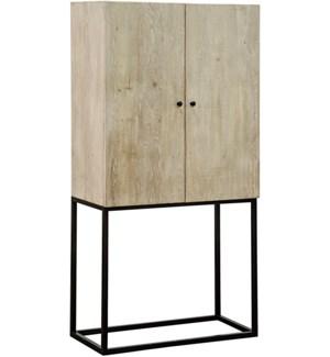 Jasmine Cabinet, 2 adj. shelves