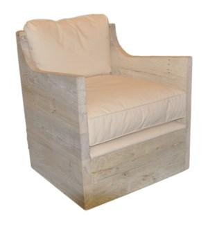 Angle chair, reclaimed oak frame