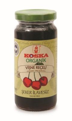 Koska Organic No Sugar Ad Cherry Prese. 12/300 gr