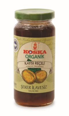 Koska Organic No Sugar Ad Apricot Prese.12/300 gr