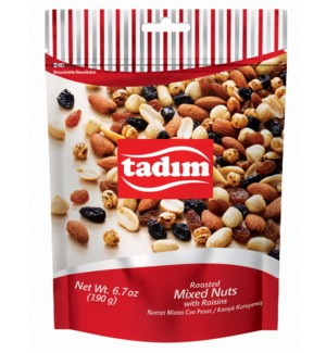 Tadim Classic Mixed Nuts w/Raisins12/190 gr
