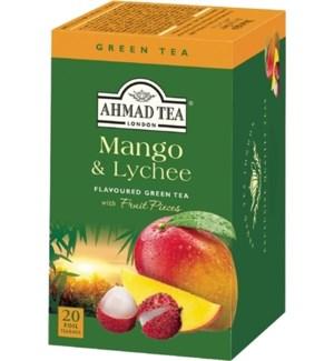 Ahmad Tea Green Mango/Lychee 6/20 pcs
