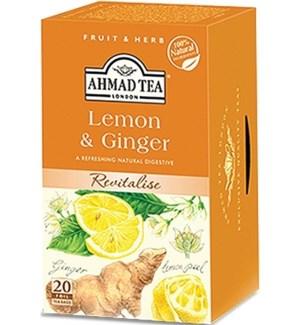 Ahmad Tea Herbal Lemon/Ginger 6/20 pcs