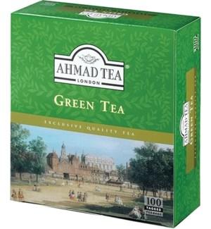 Ahmad Tea Green Tea 12/100 Tag