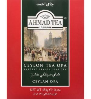 "Ahmad Tea ""OPA"" Ceylon (Red Box) 24/16 oz"