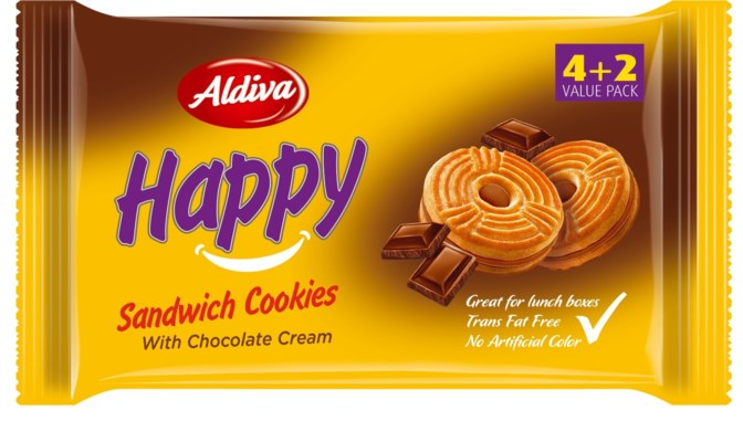 Aldiva Happy Biscuit Cocoa (4+2) 12/68 gr