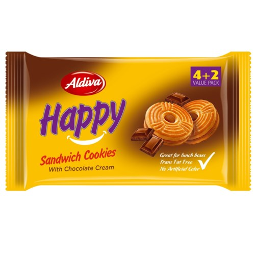 Aldiva Happy Biscuit Cocoa (4+2) 12/68 gr