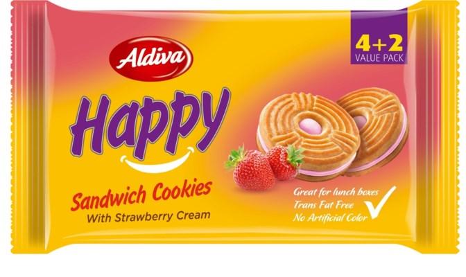 Aldiva Happy Biscuit w/Straw (4+2) 12/68 g