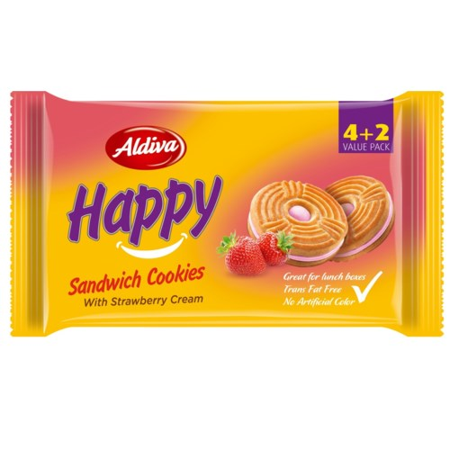 Aldiva Happy Biscuit w/Straw (4+2) 12/68 g