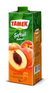 Tamek Peach Juice (Tetra) 12/1 lt