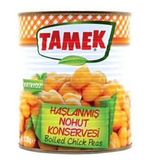 Tamek Boiled Chickpeas (can) 12/800 gr