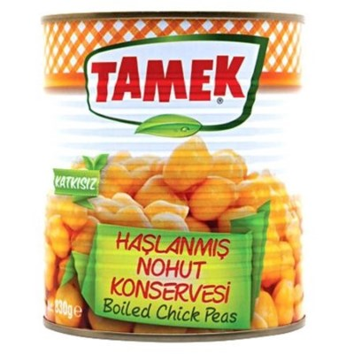 Tamek Boiled Chickpeas (can) 12/800 gr