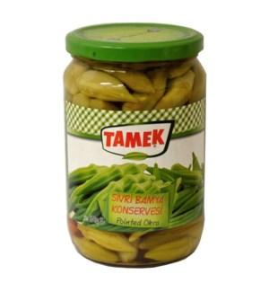 Tamek Okra Pointed (glass) 12/720 ml