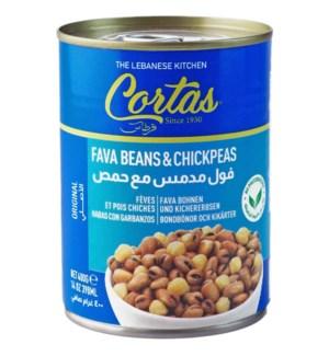 Cortas Fava Beans & Chick Peas Leb 24/14 oz