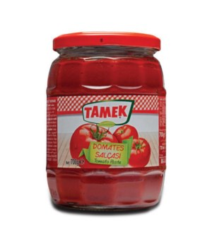 Tamek Tomato Paste (glass) 12/720 ml