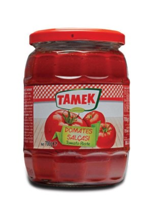 Tamek Tomato Paste (glass) 12/720 ml