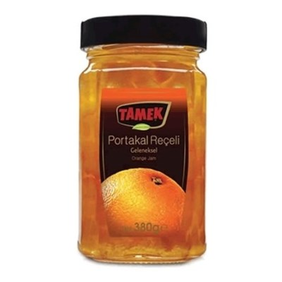 Tamek Orange Jam (glass) 12/380 gr